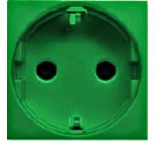 Розетка с заземлением  Zenit зеленая