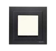 Рамка одинарная с крышкой IP55 Zenit антрацит