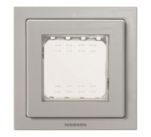 Рамка одинарная с крышкой IP55 Zenit сірий