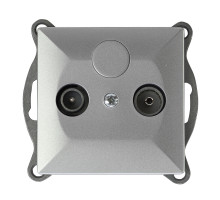 Розетка ТВ проходная Abex Perla 14db GAP-1P/P серебро