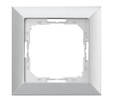 Рамка один., Abex Perla RA-1P серебро