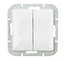 Выключатель 2-кл., с подсв, Abex Perla 250V/10A WP-2PS белый