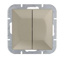 Выключатель 2-кл., с подсв, Abex Perla 250V/10A WP-2PS зол.