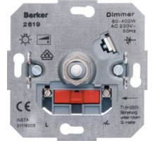 Поворотный диммер 400 Вт с мягкой регулировкой для ламп накаливания, Berker 281901