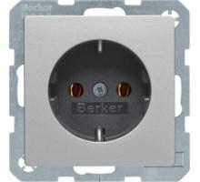 Розетка с заземлением, алюминий, Q.х Berker 47436084