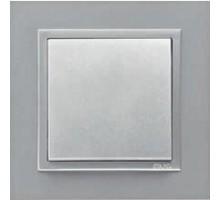 Рамка одинарная ANIMATO металик алюминиевый