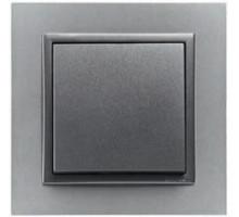 Рамка одинарная ANIMATO металлик алюминий/графит 90910 TAS