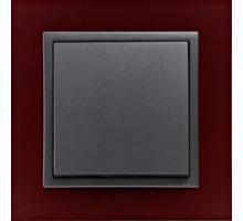 Рамка одинарная ANIMATO темно-красный/графит 90910 TBS