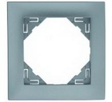 Рамка одинарная универсальная LOGUS металик ледяной