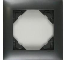 Рамка одинарная универсальная LOGUS металик графит