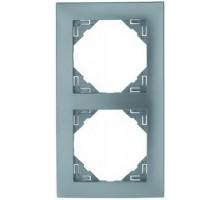 Рамка двойная универсальная LOGUS металик ледяной