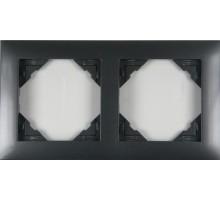 Рамка двойная универсальная LOGUS металик графит