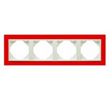 Рамка четырехкратная ANIMATO красный/лед 90940 TVG
