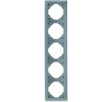 Рамка пятикратная универсальная LOGUS металик алюминиевый
