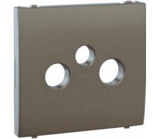 Накладка розетки телевизионной Apollo 5000, R TV-SAT металик графит