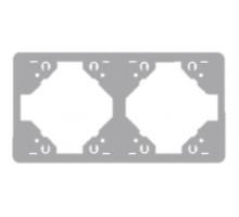 Рамка двойная горизонтальная Apollo 5000, серебро
