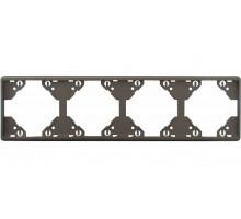 Рамка четырехкратная горизонтальная Apollo 5000, металик графит