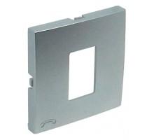 Накладка розетки телефонной LOGUS металик алюминиевый 90712 TAL