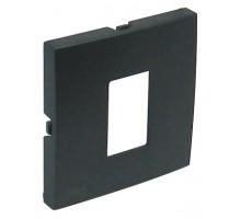 Накладка розетки телефонной LOGUS металик графит 90712 TIS