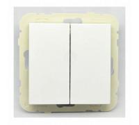 Выключатель 2кл. проходной LOGUS, белый 21101 TBR