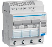 Дифференциальный авт. выключатель 3x(1p+N), C16, 16А, 30мА, 6кА, A, QuickConnect, Hager