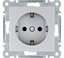 Розетка Hager Lumina  с з/к 16А, 250V серебро WL1052