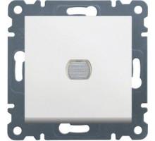 Светорегулятор нажимной  Hager Lumina белый WL4030
