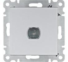 Светорегулятор нажимной  Hager Lumina серебро WL4032