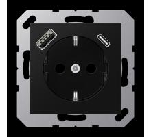 Розетка Jung А550 Розетка SCHUKO 16 A / 250 B с USB-интерфейсом AA 1520-15 CA SWM