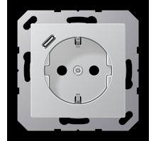 Розетка Jung А550 Розетка SCHUKO 16 A / 250 B с USB-интерфейсом A 1520-18 C AL