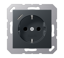 Розетка Jung А550 Розетка SCHUKO 16 A / 250 B с USB-интерфейсом A 1520-18 C ANM