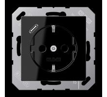 Розетка Jung А550 Розетка SCHUKO 16 A / 250 B с USB-интерфейсом A 1520-18 C SW