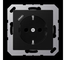 Розетка Jung А550 Розетка SCHUKO 16 A / 250 B с USB-интерфейсом A 1520-18 C SWM