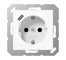 Розетка Jung А550 Розетка SCHUKO 16 A / 250 B с USB-интерфейсом A 1520-18 C WW