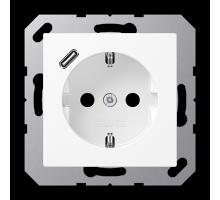 Розетка Jung А550 Розетка SCHUKO 16 A / 250 B с USB-интерфейсом A 1520-18 C WWM