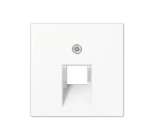 Крышка (накладка) для одинарной компьютерной розетки  A569-1BFPLUAWW Jung eco profi