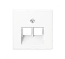 Крышка (накладка) для двойной компьютерной розетки  A569-2BFPLUAWW Jung eco profi
