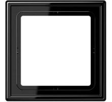 Рамка 1 пост, черный, Jung LS990 (пластик) LS981SW