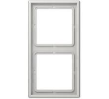 Рамка 2 поста, светло-серый, Jung LS990 (пластик) LS982LG