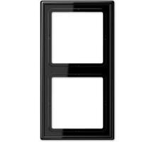 Рамка 2 поста, черный, Jung LS990 (пластик) LS982SW