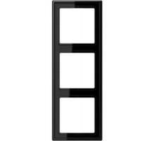 Рамка 3 поста, черный, Jung LS990 (пластик) LS983SW