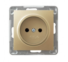 Розетка одинарная, 250V/16A OSPEL IMPRESJA золото