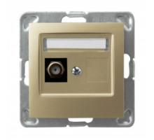 Розетка ТВ проходная, ZAP-14 OSPEL IMPRESJA золото