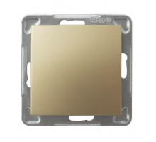 Выключатель 1-клавишный,  250V/16A OSPEL IMPRESJA золото