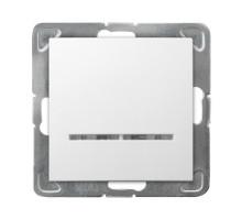 Выключатель 1-клавишный,  с подсветкой, 250V/16A OSPEL IMPRESJA белый