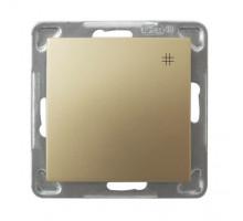 """Выключатель """"#"""" перекрестный, 250V/16A OSPEL IMPRESJA  золото"""