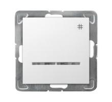 """Выключатель """"#"""" перекрестный, с подсветкой, 250V/16A OSPEL IMPRESJA белый"""