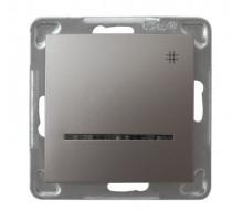 """Выключатель """"#"""" перекрестный, с подсветкой, 250V/16A OSPEL IMPRESJA титан"""