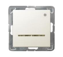 """Выключатель """"#"""" перекрестный, с подсветкой, 250V/16A OSPEL IMPRESJA бежевый"""