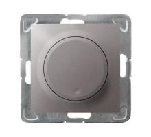 Светорегулятор поворотный LED, OSPEL IMPRESJA титан